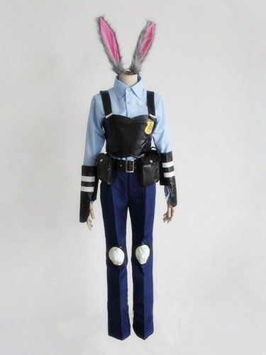 Hot Halloween Zootopia Officer Judy Hopps Bunny Cosplay Costume - hot halloween ideas