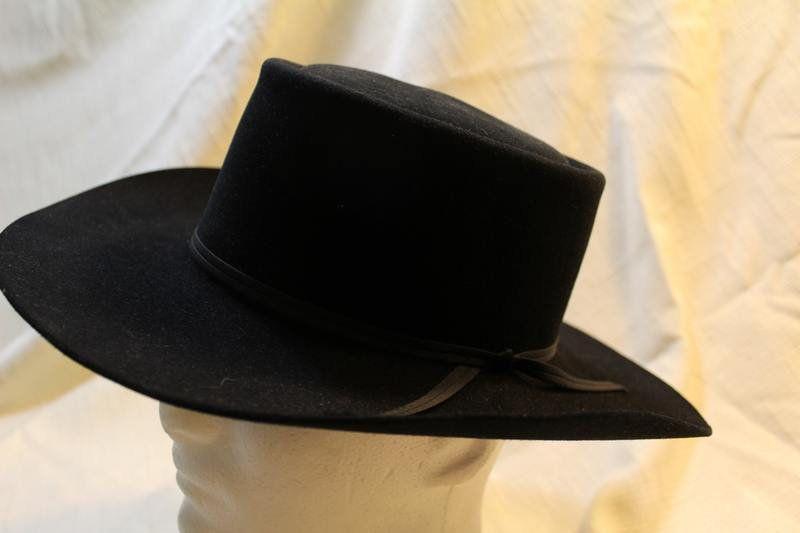 7598dce0055 Vintage Resistol 4X Beaver Fur Felt Black Western Men s Hat Self Conforming