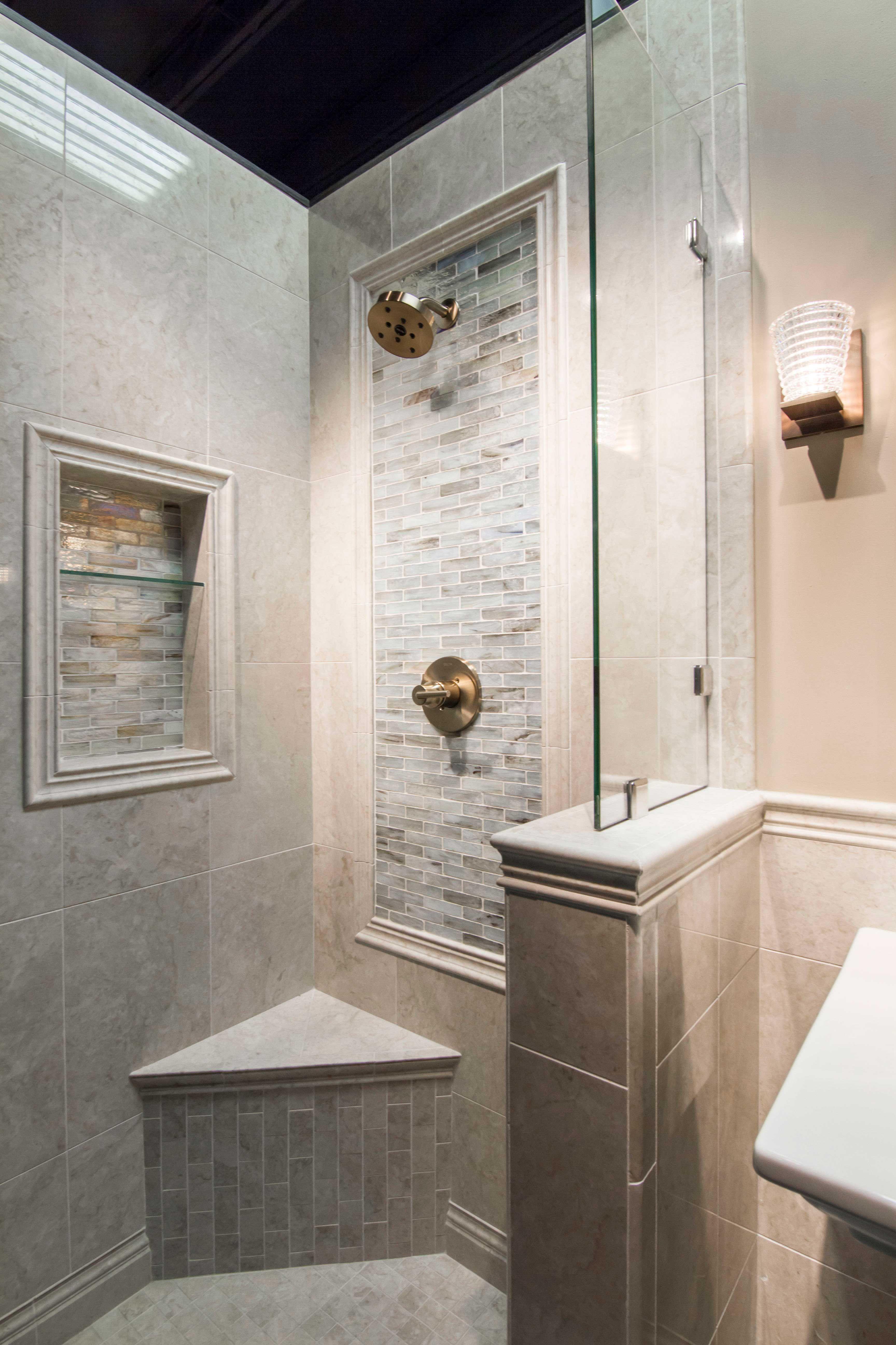 Bathroom Shower Backsplash Focal Point Tile Inglewood Glass