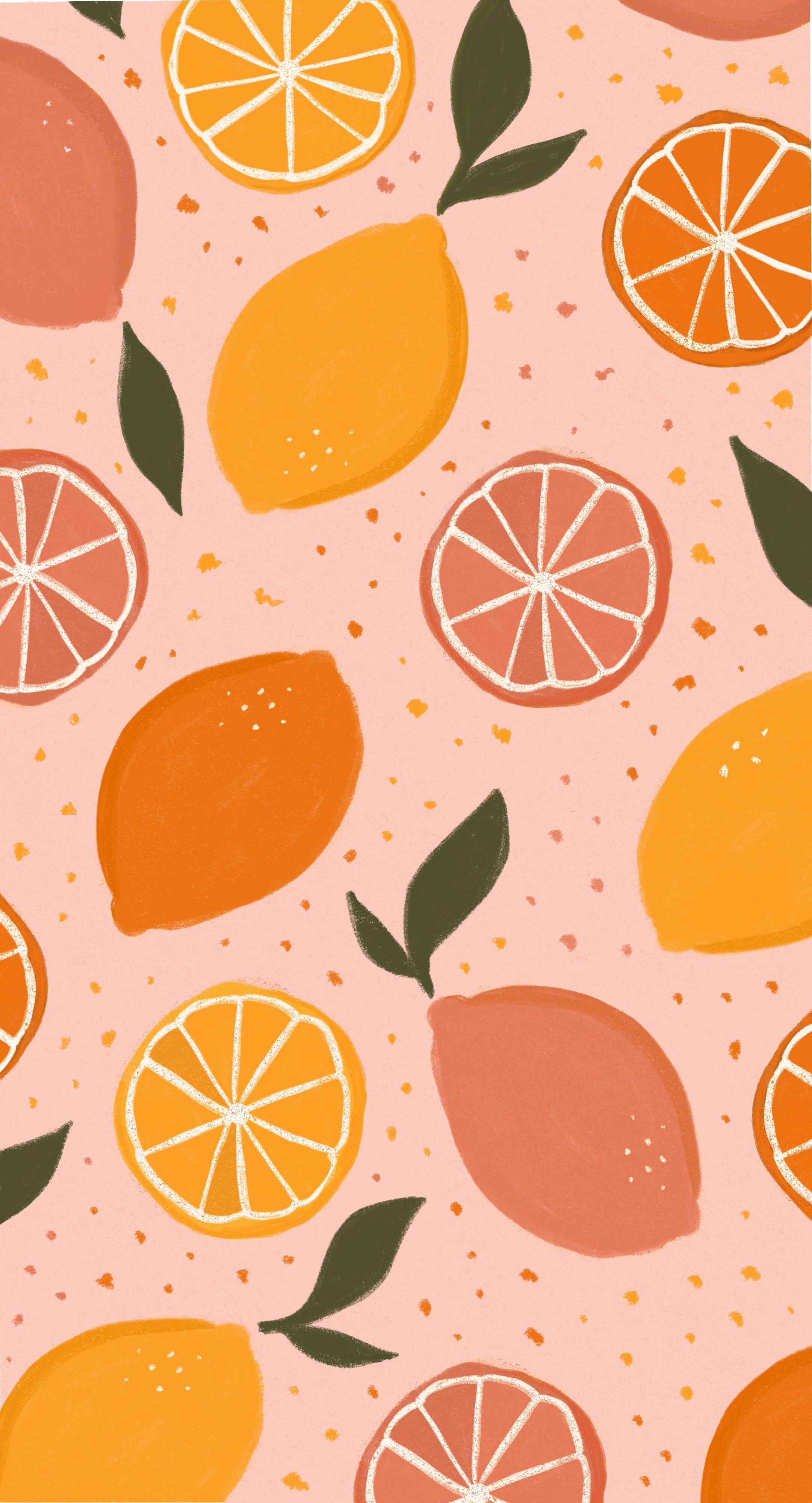 Lemon Pattern Illustration Cute Patterns Wallpaper Art Wallpaper Fruit Wallpaper