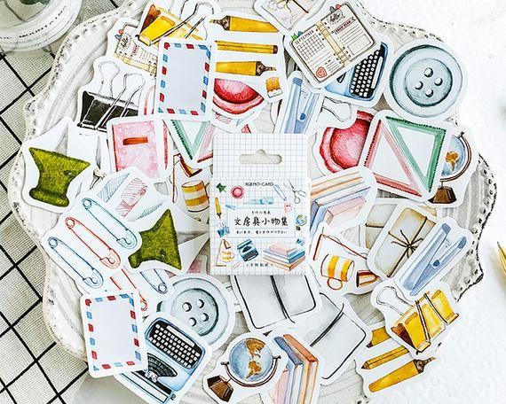 45Pcs//lot Cactus Paper Decor DIY Ablum Diary Scrapbooking Sticker Useful