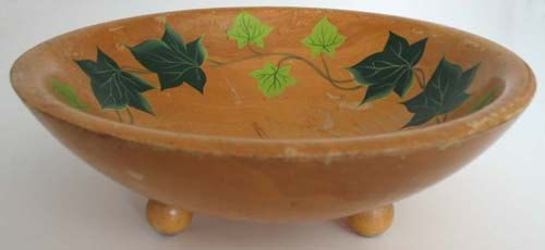 Antique RIO GRANDE Primitive IVY Wooden Ware Wood Bowl