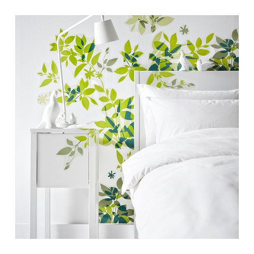 Bring nature indoors with ELSABO wall decals! Create yourself a DIY leaf  motif and make