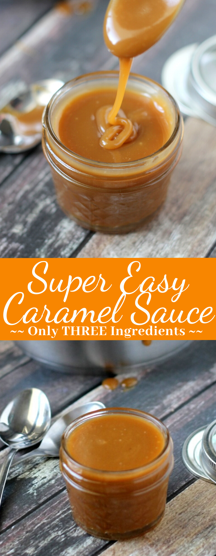 Super Easy Caramel Sauce (3 ingredients)
