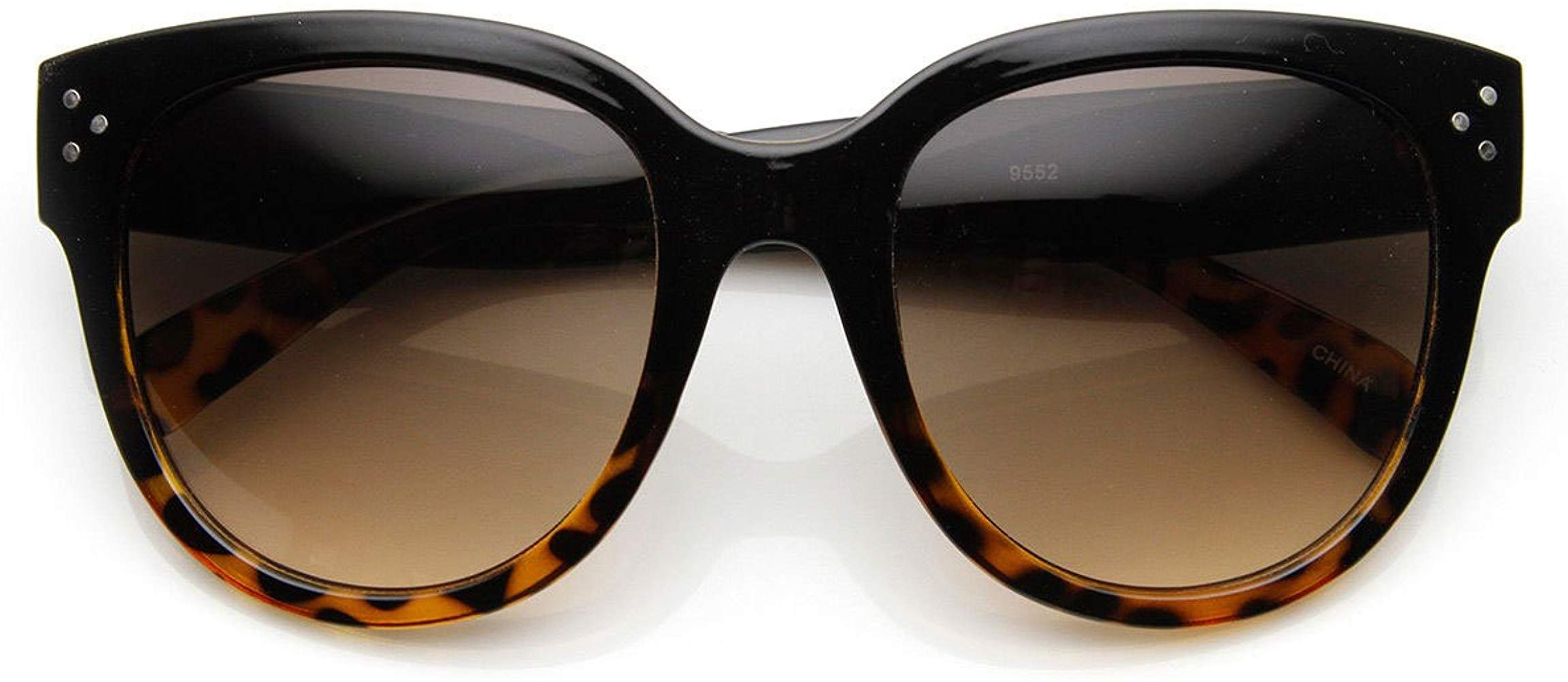 Womens Large Oversized Fashion Horn Rimmed