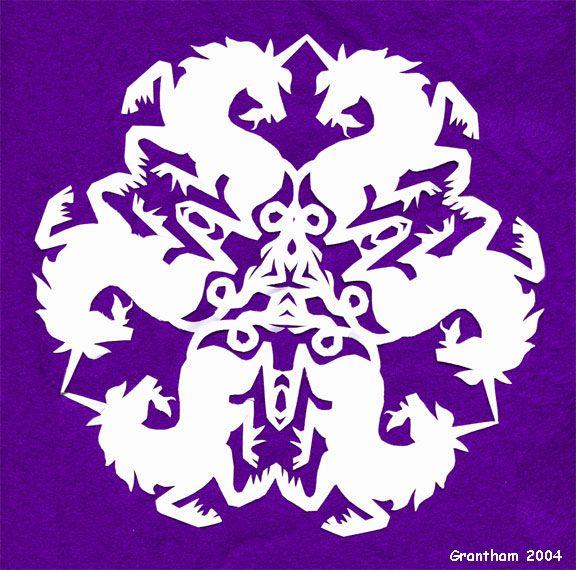 unicorn snowflake template  Fantasy Snowflake: The Unicorns´ Joust by Katherine J ...