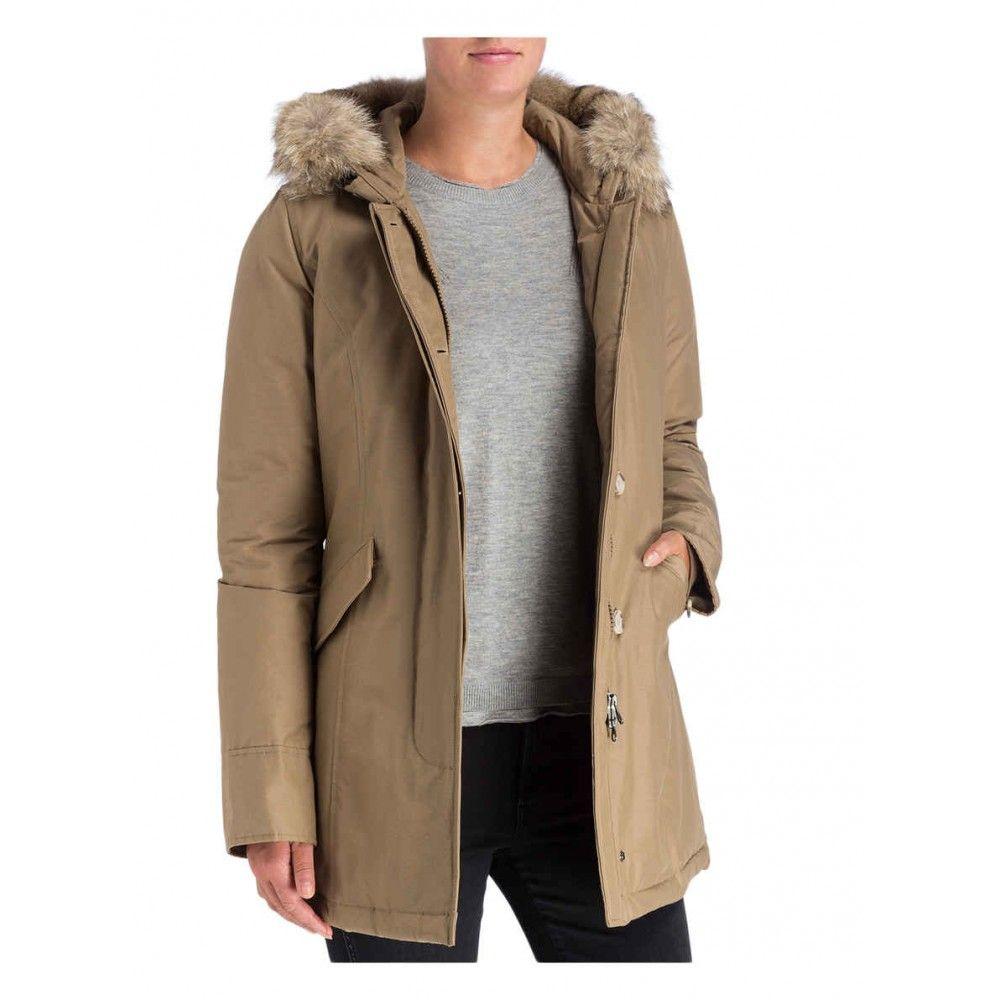 Woolrich Damen Daunenparka Slim Fit Arctic Beige Woolrich Slim Fit Fashion