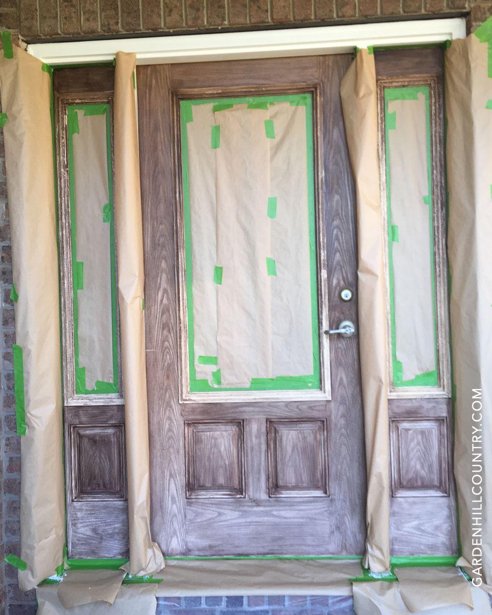 how to paint a fiberglass door video
