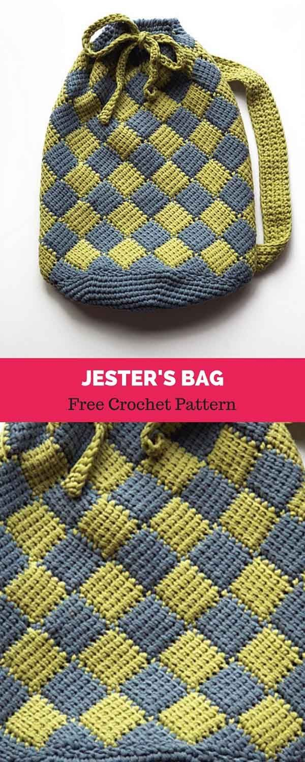 Jester\'s Bag [ FREE CROCHET PATTERN | Purses,Etc | Pinterest ...