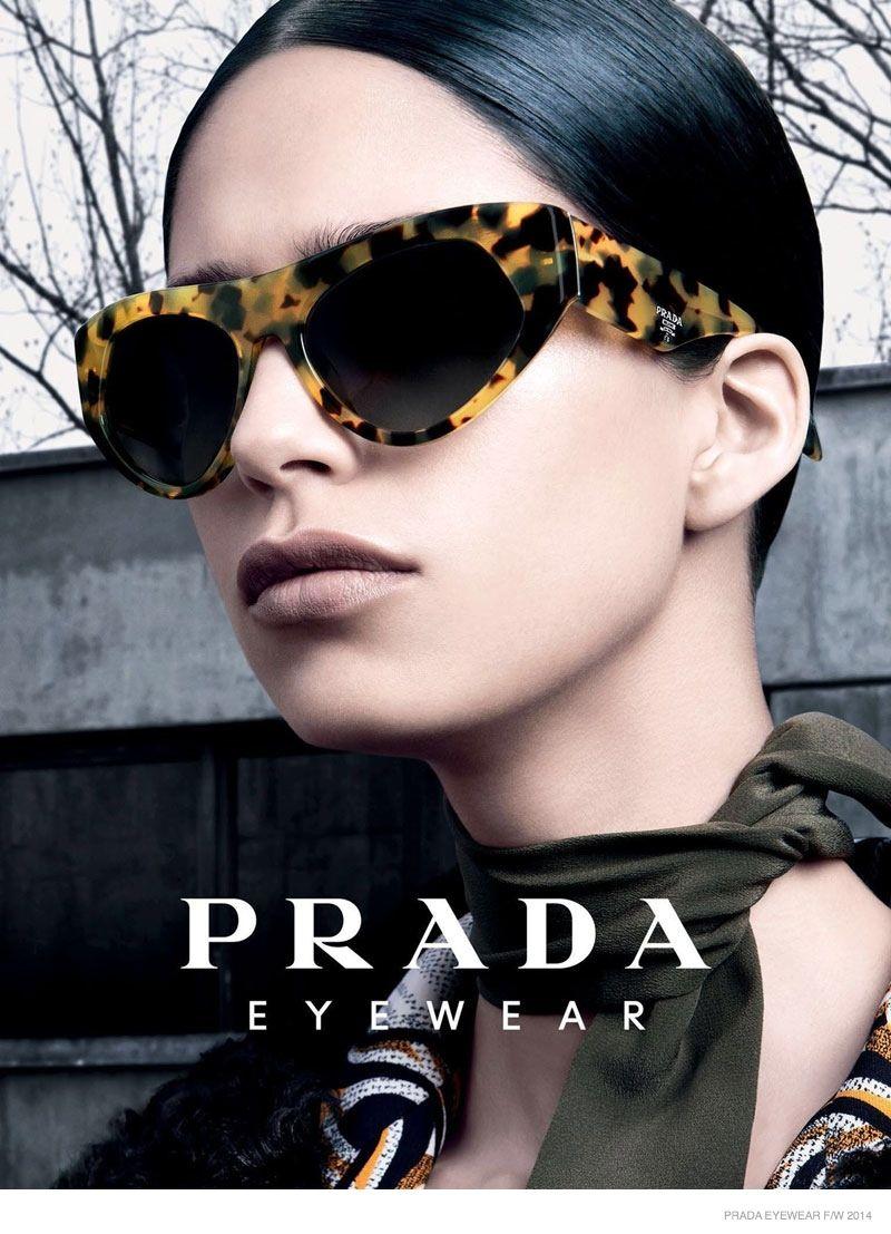 50fa2ccc6fd Prada Releases Fall 2014 Eyewear Campaign with Mica Arganaraz ...