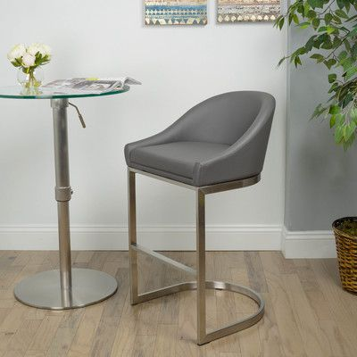 Wade Logan Sylvester 26 Bar Stool Upholstery Gray Products
