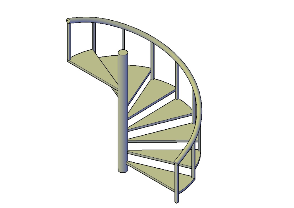3d Iron Spiral Staircase Elevation Design In 2020 Spiral Staircase Staircase Design Staircase