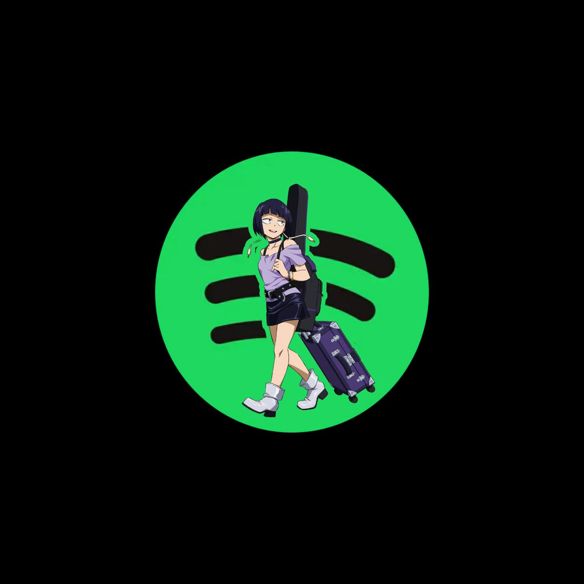 Spotify Anime Icon In 2020 Animated Icons App Anime App Icon