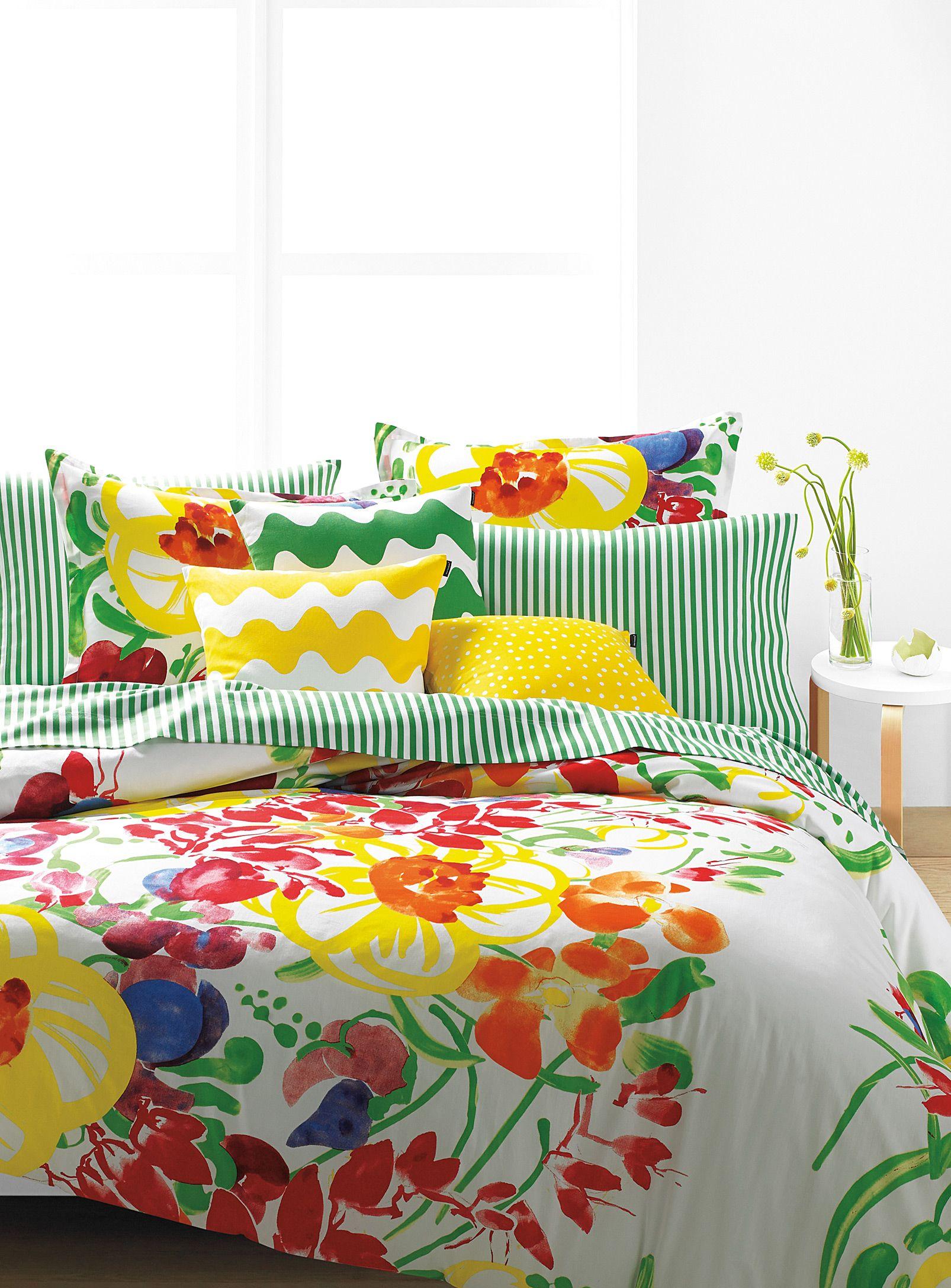 Flower Power Marimekko Painterly Garden Duvet Cover Set At