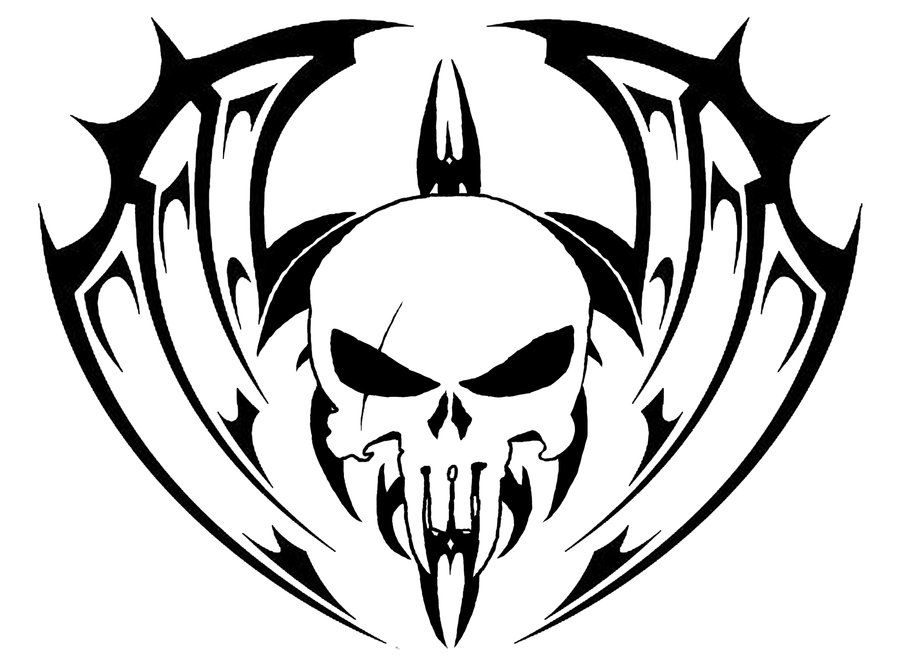 Tribal Skull Tattoo Idea 2 Tribal Drawings Tribal Skull Skull Tattoo Design