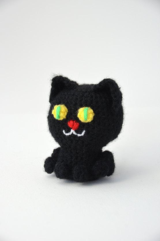 Halloween Amigurumi Crochet black cat