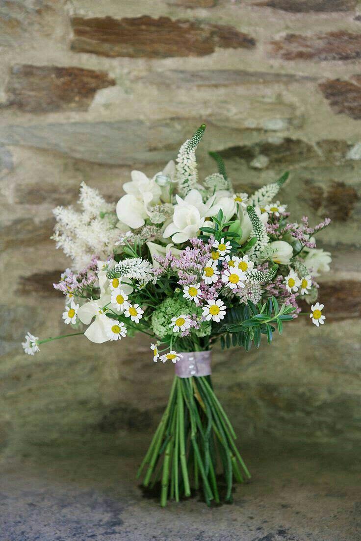 Sweet Hand Tied Wildflower Bouquet White Freesia White Astilbe White Veronica White Astran Summer Wedding Bouquets Bridal Bouquet Pink Wildflower Wedding
