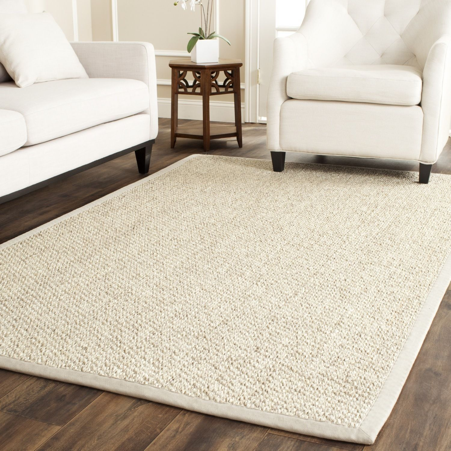 Safavieh Chunky Basketweave Marble Ivory Taupe Sisal Rug Overstock Com Shopping The Best Deals On 7x9 10x14 Sisal Area Rugs Sisal Rug Braided Area Rugs