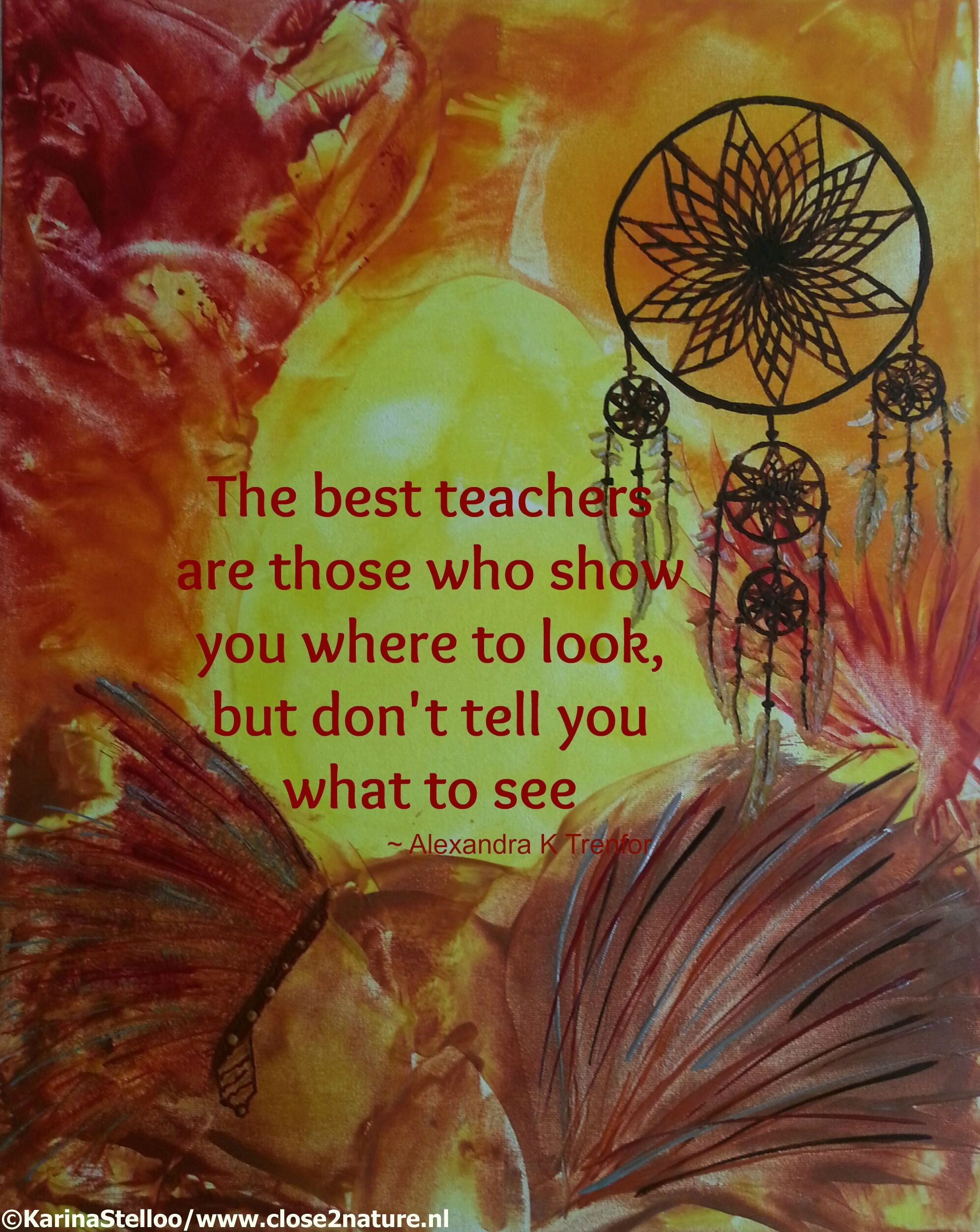 The best teachers are those who show you where to look ...