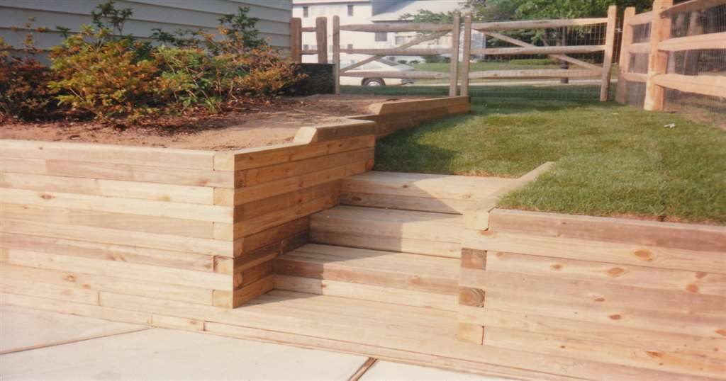 Exceptional Timber Retaining Wall Design Stunning Decoration Retaining Walls Maryland