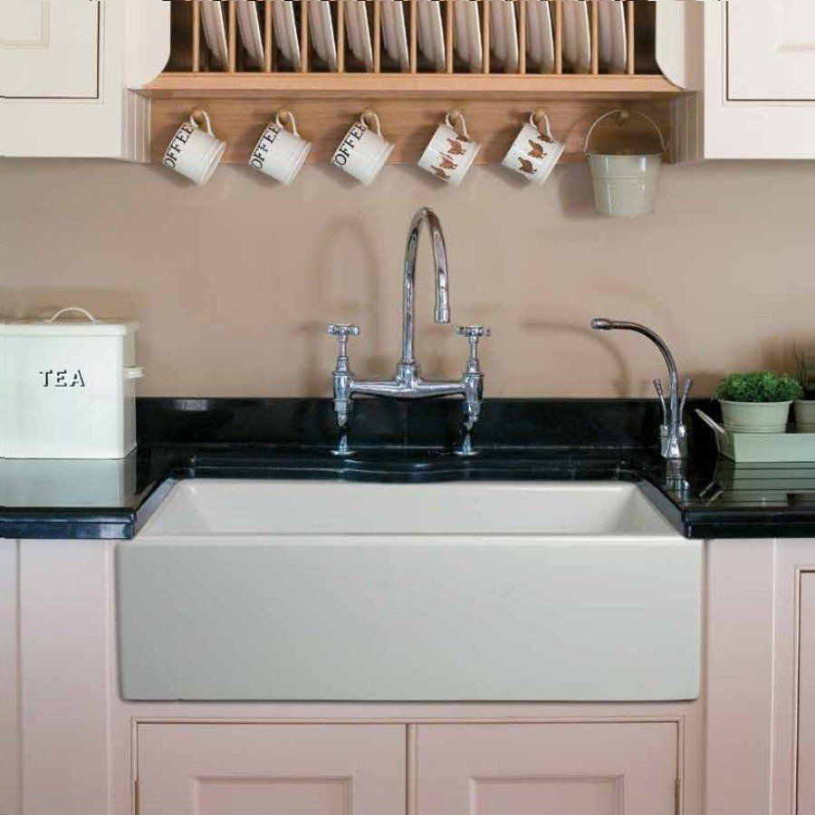 33 Inch Plain Front Fireclay Reversible Apron Farmhouse Sink In 2020 Farmhouse Sink Kitchen Sink Fireclay Farmhouse Sink