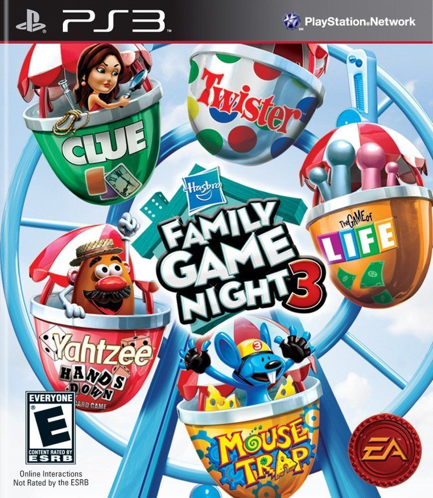 Hasbro Family Game Night Vol 3 Rare Family Kids Game For Ps3 Sony