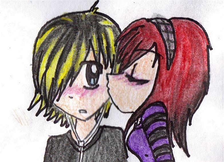 kissing drawings emopeoplekissingdrawings597jpg