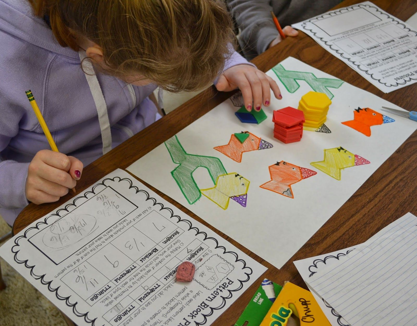 Fractions Operations Review With Pattern Block Pictures