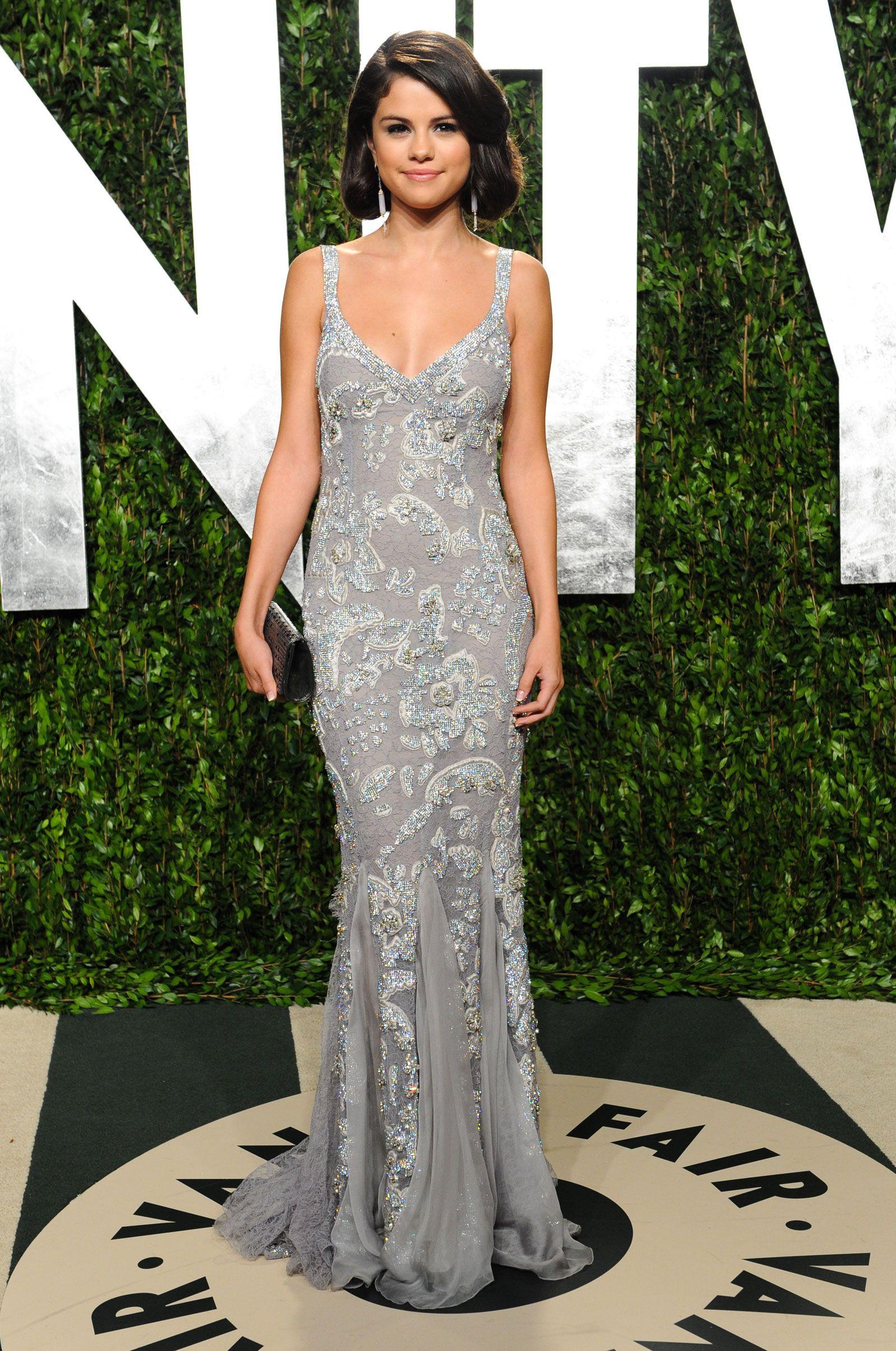 Selena Gomez in Dolce & Gabbana, 2012 Vanity Fair Oscar Party ...