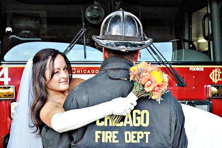Firefighter Wedding   Cute!
