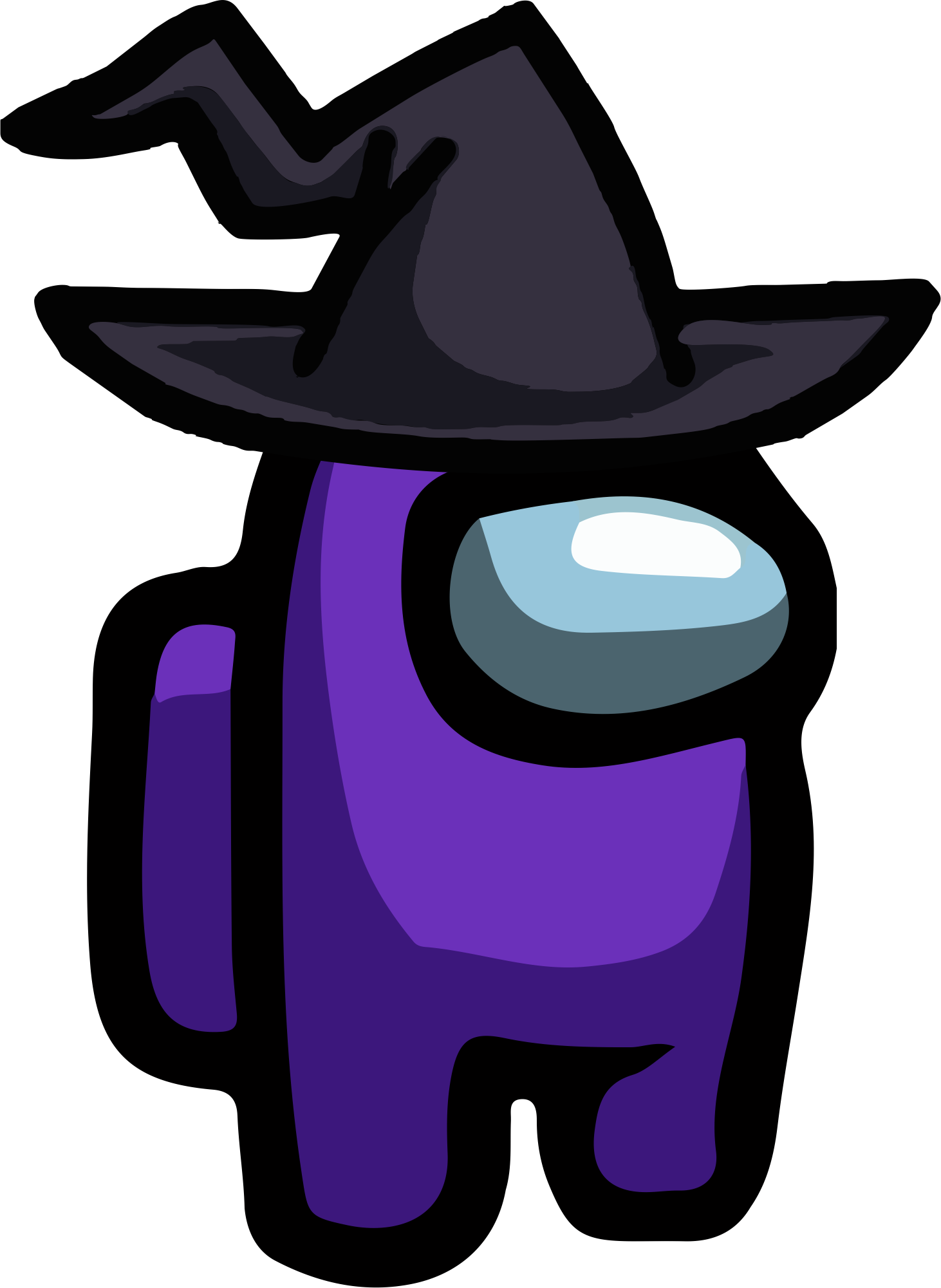 Pin By Teresa On Among Us Png Character Wallpaper Cartoon Wallpaper Witch Hat