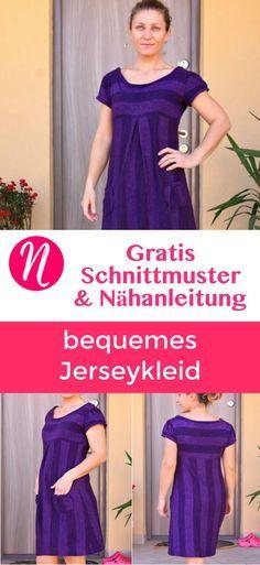 Bequemes Jerseykleid mit Taschen für Damen in Größe M ...