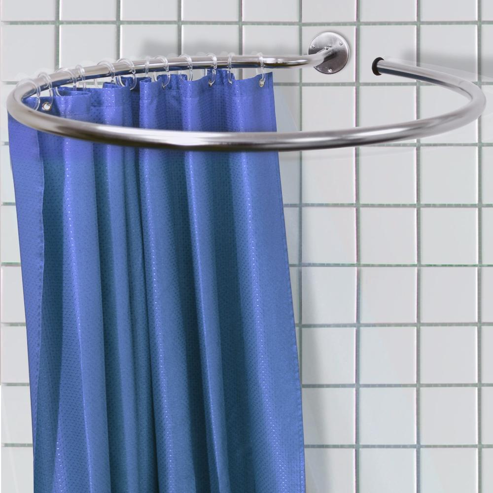 Bendable Shower Curtain Rod In 2020 Corner Shower Curtain Rod