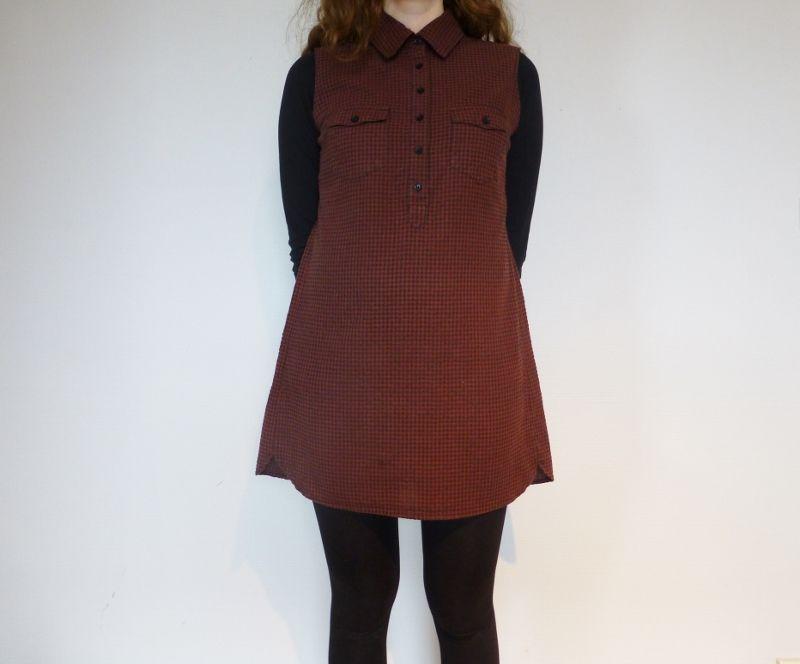 Klänning av skjorta. Hanna Johanson för Monthly Makers februari, tema återbruk.