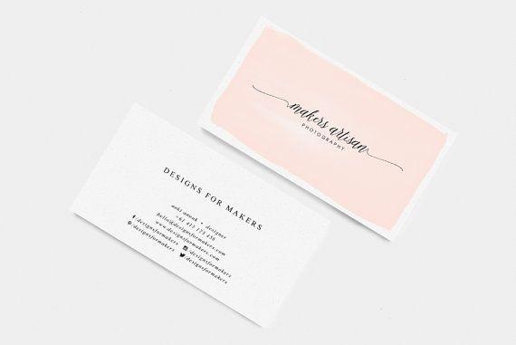 Watercolor Brush Business Card Templates Pink Watercolor