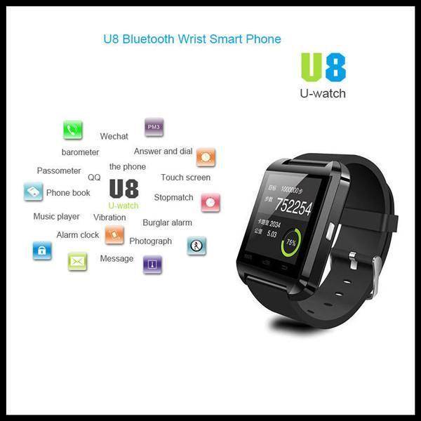 Bluetooth Smart Watch U8 U Watch WristWatch for iPhone 4/4S