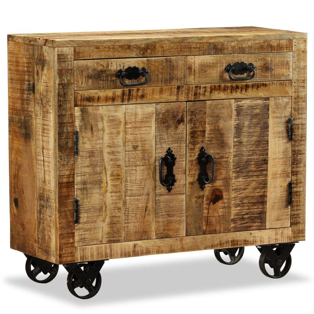 Industrial Sideboard Mit Rollen Holz Schlafzimmermobel Into The Woods Mehrzweckschrank