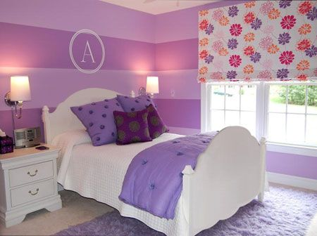Image Detail For Purple And White For A Look That Still Has A - Young lady bedroom design