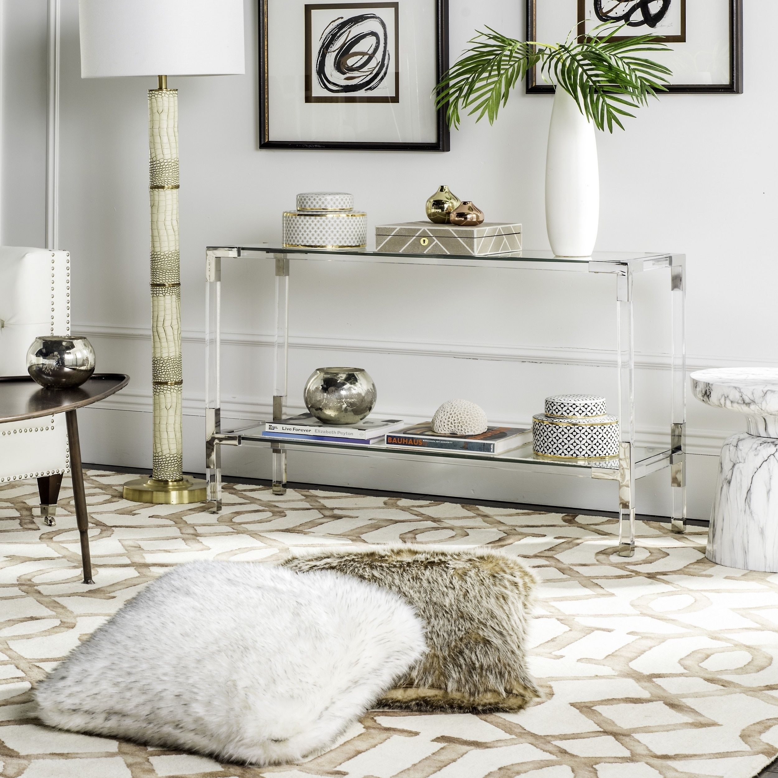 Safavieh High-Line Collection Arverne Acrylic Console Table