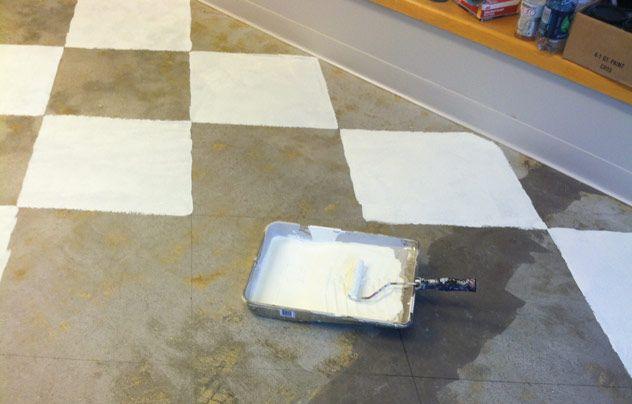 Harlequin Floor Chalk Paint Into The Corners Harlequin Floors Flooring Concrete Wood Floor