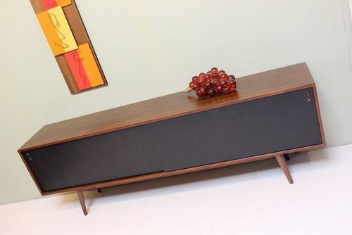 Danish Rosewood Credenza : Rosewood and birch credenza by løvig kirstens