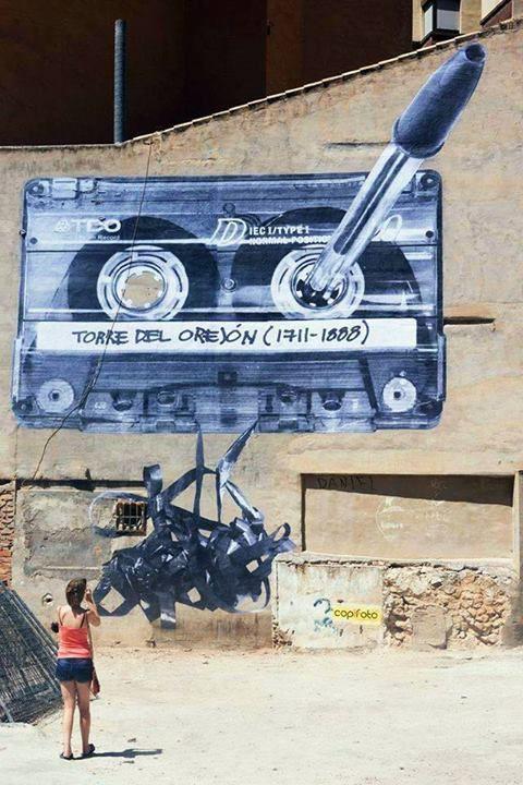 EspaiMGR - Spain. #streetart #publicart http://www.pinterest.com/TheHitman14/art-of-the-streets/