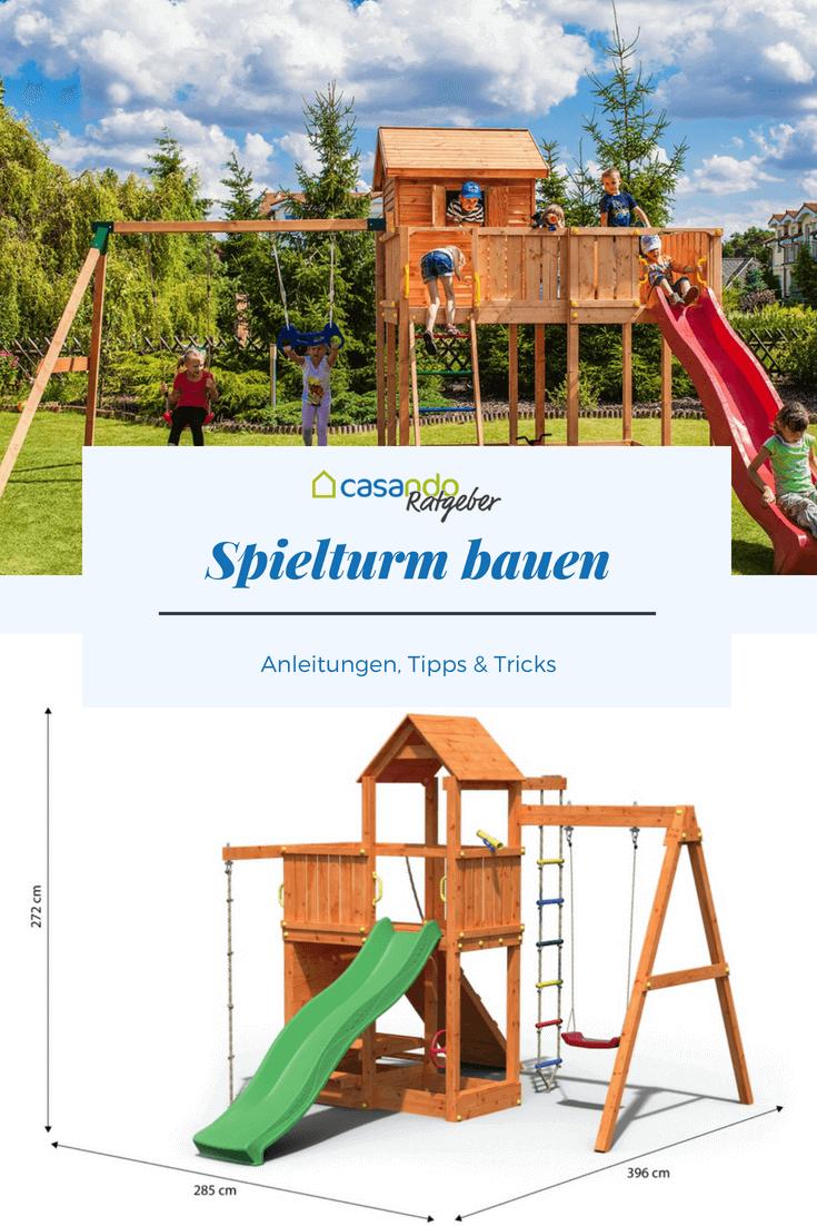 Den Spielturm Sicher Aufbauen Casando Ratgeber Spielturm Spielturm Garten Kinder Spielhaus Garten