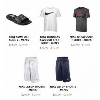 Shop in store and save $5 on men's Nike Comfort Slide 2, men's Nike Swoosh