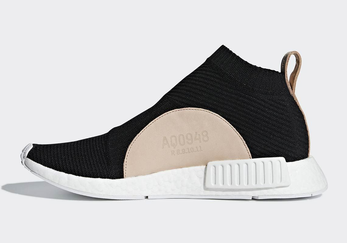 best service e7e6c e1265 adidas NMD City Sock Black Tan Leather AQ0948 Release Date   SneakerNews.com