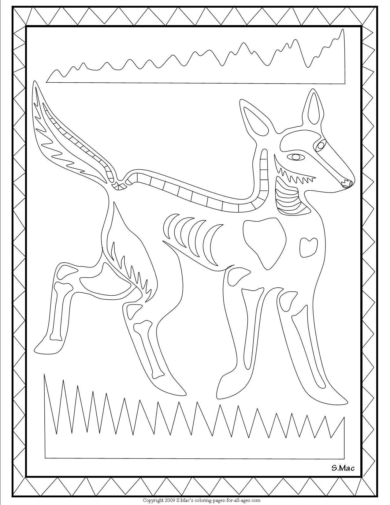Scs x ray art dingo coloring page aboriginal dot painting scs x ray art dingo coloring page biocorpaavc Images