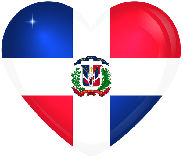 Dominican Republic Large Heart Flag Dominican Flag Dominican Republic Flag Dominican Republic
