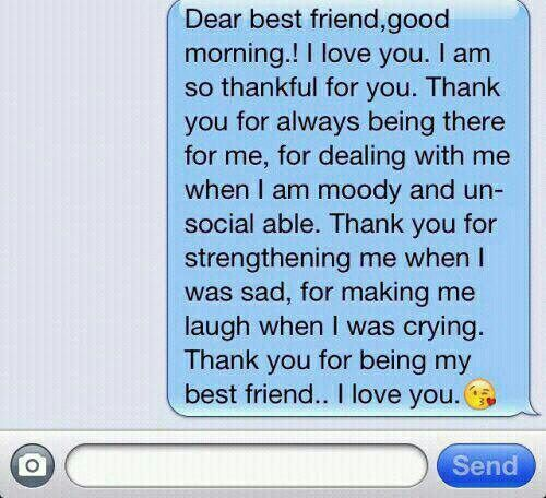 Dear best friend | I love you | Goodnight best friend, Best