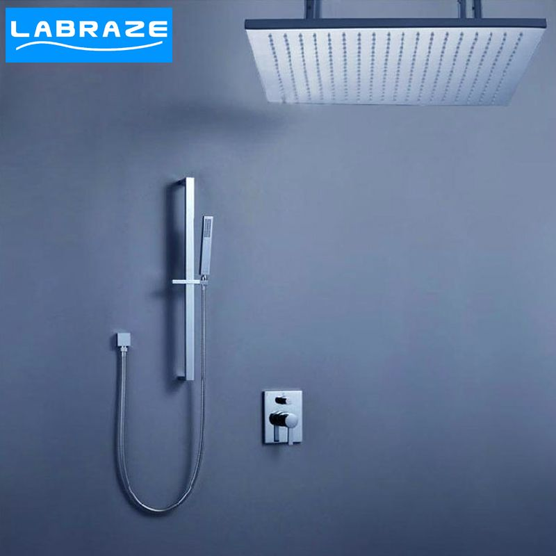 German LABRAZE hot and cold dark into wall type shower shower faucet ...