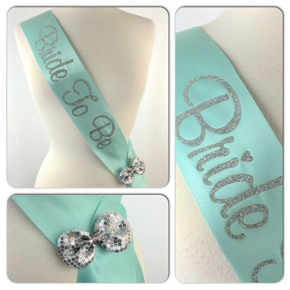 Glitter Sash, Many Colors, Custom Bridal Sash, MANY Colors, Bachelorette Sash, Bride to Be Sash $12.95 USD